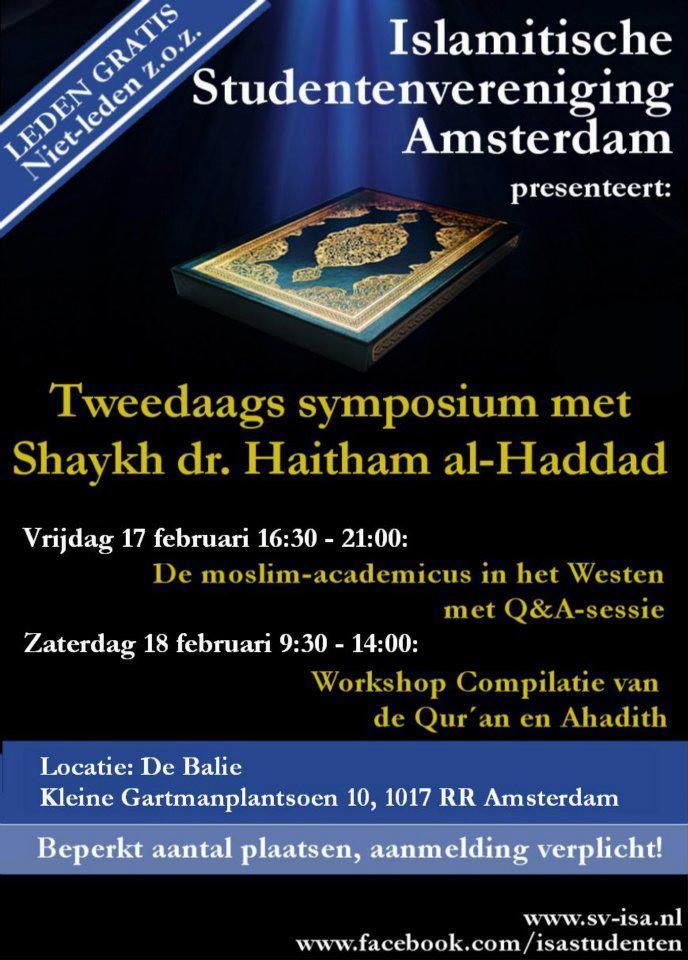 Tweedaags symposium en debat met Shaykh dr. Haitham al-Haddad