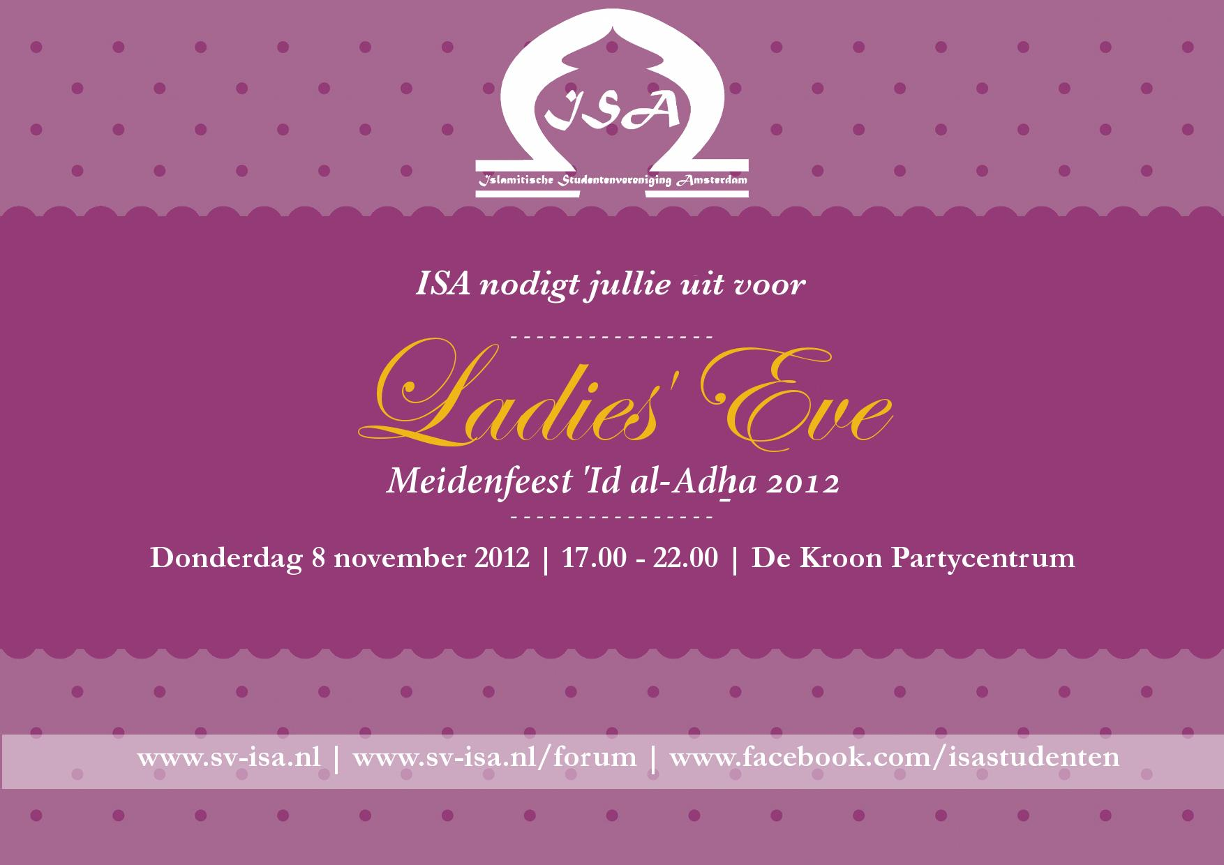 Ladies' Eve 2012: Meidenfeest 'Id al-Adha