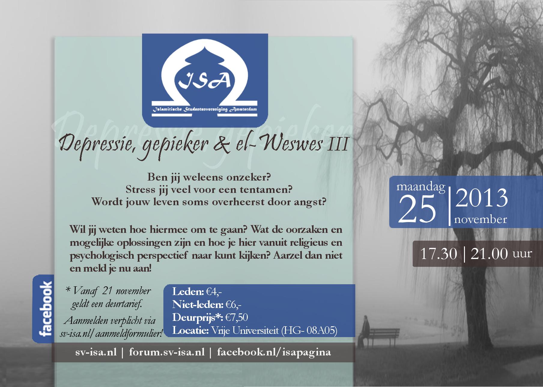 Depressie, gepieker & el-Weswes III