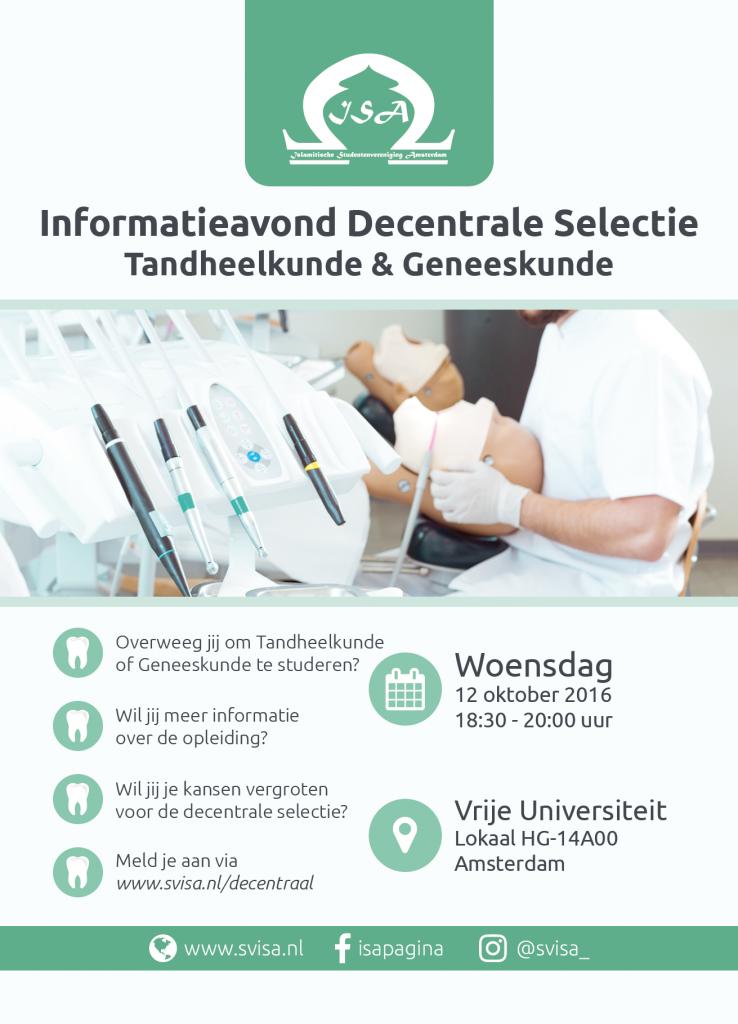 Informatieavond Decentrale Selectie Tandheelkunde & Geneeskunde