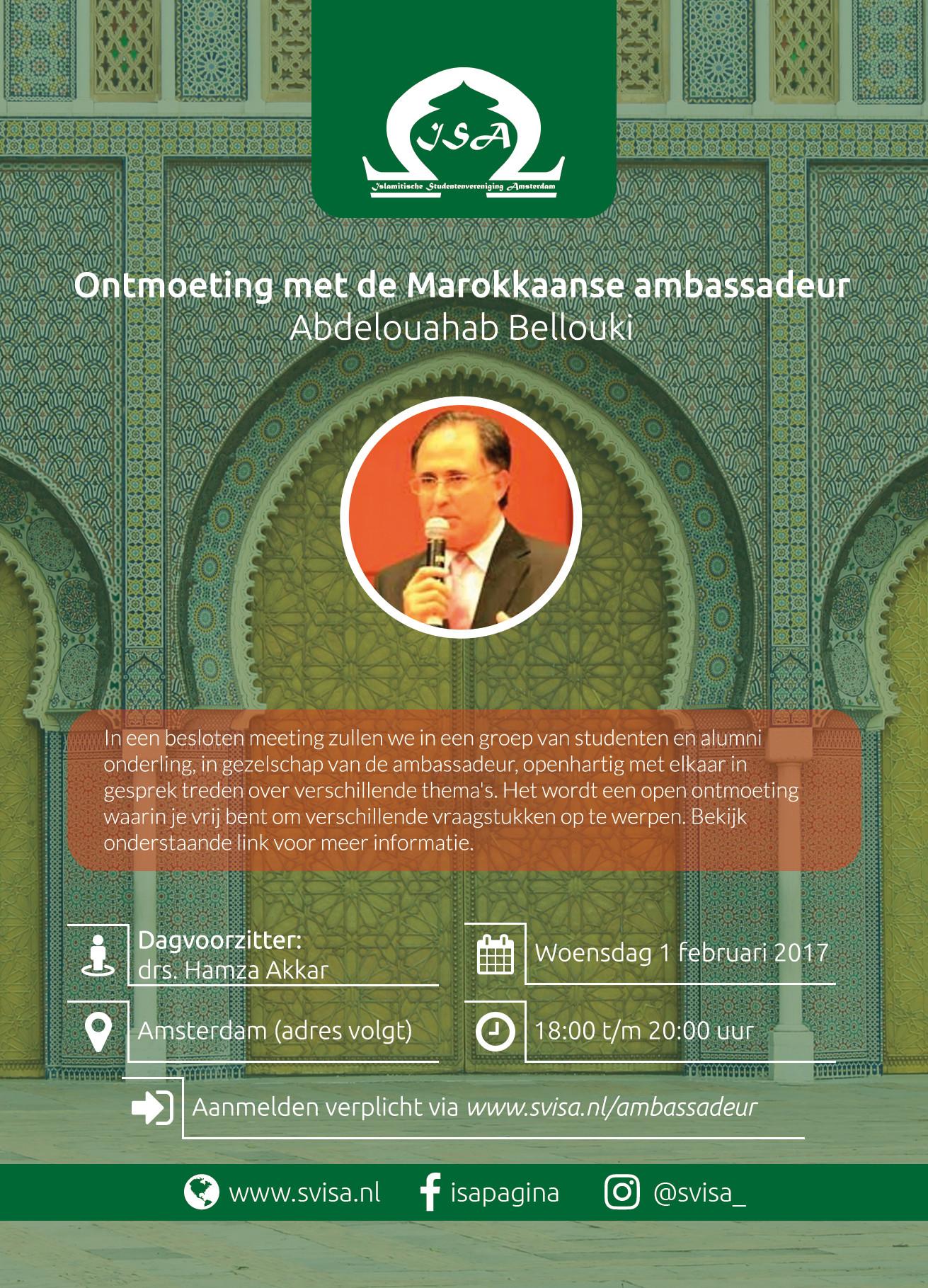 Ontmoeting met de Marokkaanse ambassadeur