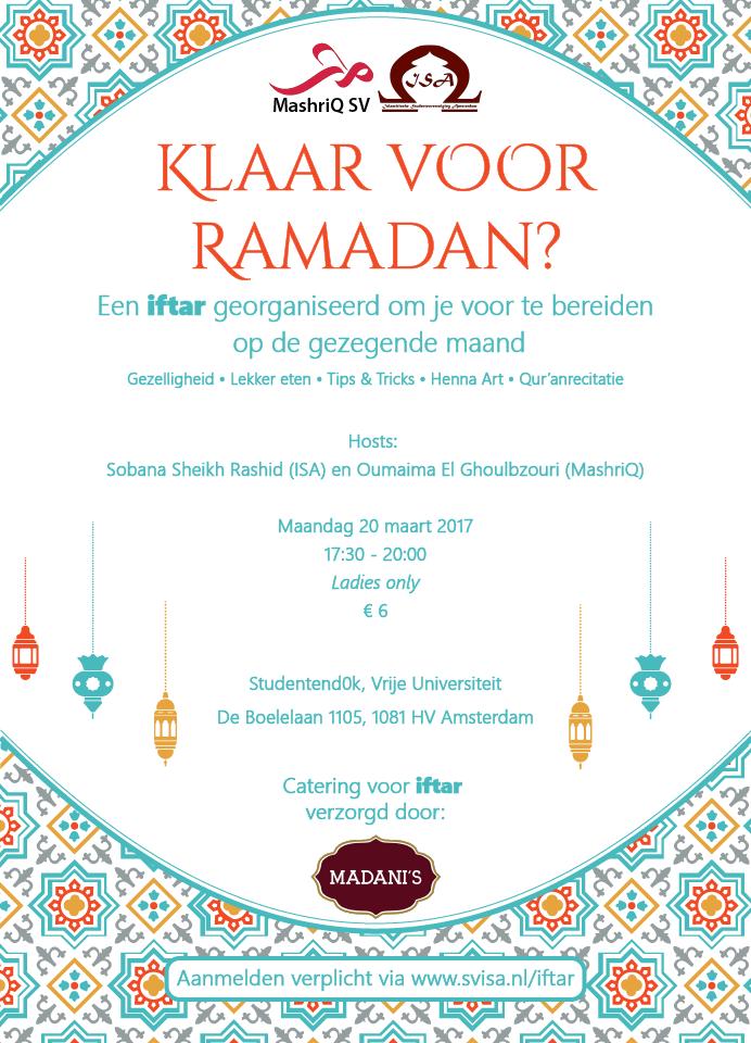 Klaar voor Ramadan? – Ladies Iftar