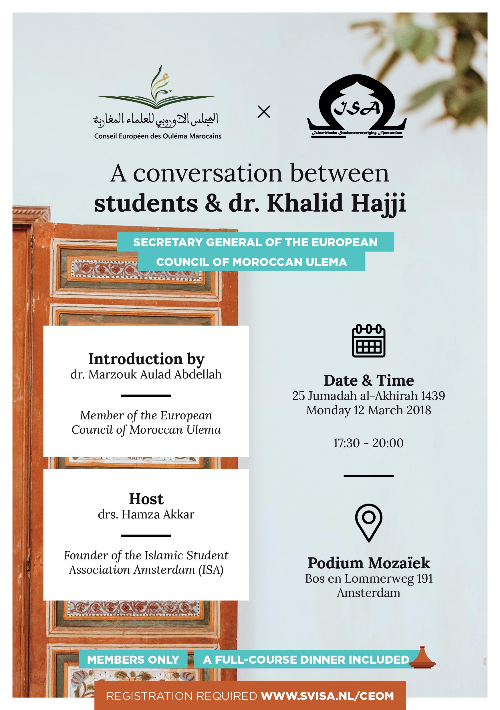 A conversation between students & dr. Khalid Hajji